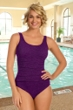 Krinkle Acai Shirred One Piece Chlorine Resistant Swimsuit