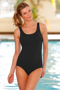 Empower Scoop Neck One Piece Chlorine Resistant Swimsuit Black