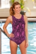 Dolfin Lacey Chlorine Resistant Moderate Lap Swimsuit Pink