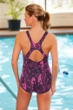 Dolfin Plus Size Lacey Power Back Chlorine Resistant Swimsuit Pink