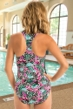 Chlorine Resistant Dolfin Plus Size Aquashape Wild Hour Zip Front One Piece Swimsuit