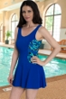 Chlorine Resistant Dolfin Aquashape St. Lucia Blue Color Block Swimdress