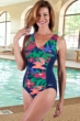 Dolfin Chlorine Resistant Lanai V-Neck One Piece Swimsuit