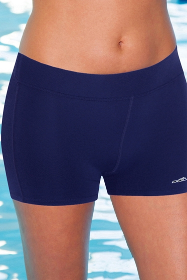 Dolfin Plus Size Solid Chlorine Resistant Fitted Short Swim Bottom Navy