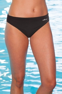 Chlorine Resistant Dolfin Plus Size Black Contemporary Bottom