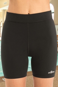 Chlorine Resistant Dolfin Aquashape Black Mid-Length Swim Short