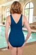 Krinkle Mykonos Cross Back One Piece Chlorine Resistant Swimsuit
