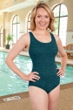 Krinkle Storm Cross Back One Piece Chlorine Resistant Swimsuit