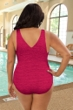 Krinkle Berry Plus Size Cross Back One Piece Chlorine Resistant Swimsuit