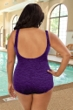 Krinkle Acai Plus Size Mock Surplice One Piece Chlorine Resistant Swimsuit