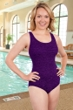 Krinkle Acai Cross Back D-Cup One Piece Chlorine Resistant Swimsuit