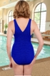 Krinkle Royal Cross Back D-Cup One Piece Chlorine Resistant Swimsuit