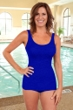 Krinkle Royal D-Cup Sheath One Piece Chlorine Resistant Swimsuit