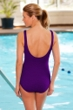 Krinkle Acai Diagonal Sheath One Piece Chlorine Resistant Swimsuit