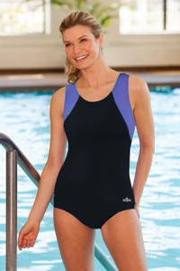 Dolfin Chlorine Resistant Moderate Color Block Lap Suit
