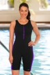 Dolfin Color Block Zip Front Chlorine Resistant Aquatard Black/Purple