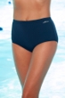 Dolfin Solid Polyester Chlorine Resistant Full Brief Swim Bottom Navy