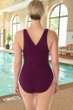 Krinkle Chlorine Resistant Eggplant D-Cup Cross Back One Piece Swimsuit