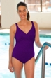 Krinkle Acai Twist Front One Piece Chlorine Resistant Swimsuit