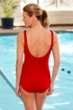 Krinkle Red Twist Front One Piece Chlorine Resistant Swimsuit