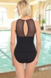 Krinkle Chlorine Resistant High Neck Two Piece Tankini Top and Bottom Set