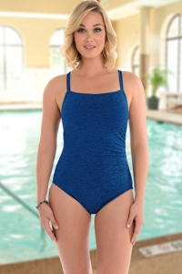 Krinkle Chlorine Resistant Shirred One Piece Swimsuit