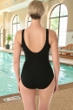 Krinkle Chlorine Resistant Black Mastectomy Shirred One Piece Swimsuit