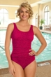 Krinkle Berry Shirred One Piece Chlorine Resistant Swimsuit
