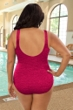 Krinkle Berry Plus Size Shirred One Piece Chlorine Resistant Swimsuit