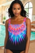 Chlorine Resistant Active Spirit Birds Of A Feather Square Neck Tankini Top