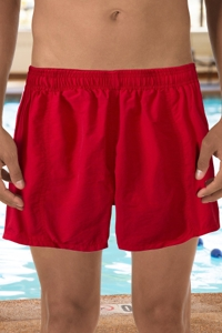 "Dolfin Red 5"" Inseam Mesh Liner Men's Swim Trunks"