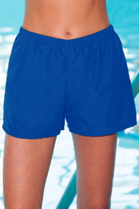 Chlorine Resistant Aquamore Blue Cover Up Aqua Short