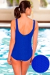 Aquatex by Aquamore Chlorine Resistant Azure Scoop Neck One Piece Textured Swimsuit