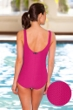 Aquatex by Aquamore Chlorine Resistant Pink Scoop Neck One Piece Textured Swimsuit