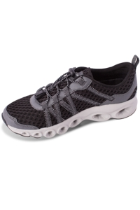 Chlorine Resistant Aquamore Black and Grey Aquaciser Women's Water Shoe