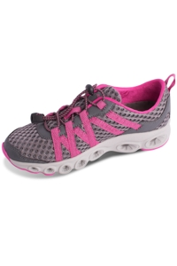 Chlorine Resistant Aquamore Grey and Pink Zip Tie Women's Water Shoe