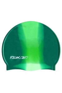 Reebok Tie Dye Vertical Stripe Swim Cap Green