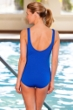Chlorine Resistant Aquamore Solid Blue DD-Cup Scoop Neck One Piece