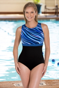 Chlorine Resistant Aquamore Synergy DD-Cup High Neck One Piece