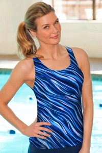 Chlorine Resistant Aquamore Synergy Racerback Tankini Top