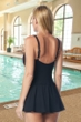Gabar Hydrofinity Chlorine Resistant Dream Waterfall Square Neck Swimdress