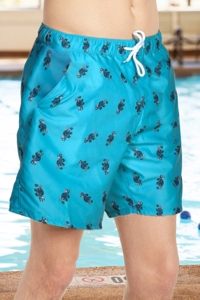 "Chlorine Resistant US Apparel Aloha Vintage Sea 7"" Inseam Mesh Liner Men's Swim Trunks with Pockets"