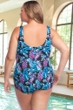 Chlorine Resistant Maxine of Hollywood Prairie Dreams Plus Size Shirred Girl Leg One Piece Swimsuit