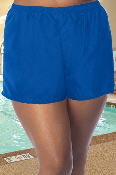 Chlorine Resistant Aquamore Blue Plus Size Cover Up Aqua Short