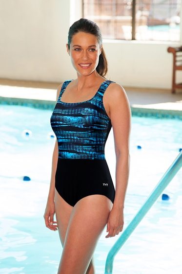 Chlorine Resistant TYR Byron Bay Controlfit Scoop Neck One Piece Swimsuit