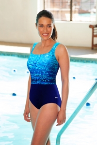 Chlorine Resistant TYR Arctic Controlfit Scoop Neck One Piece Swimsuit