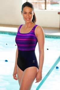 TYR Tramonto Pink Scoop Neck Controlfit Chlorine Resistant One Piece Swimsuit
