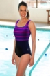 TYR Mantra Black Plus Size Square Neck Controlfit Chlorine Resistant One Piece Swimsuit