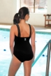 TYR Mantra Black Square Neck Controlfit Chlorine Resistant One Piece Swimsuit