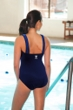 TYR Mantra Blue Square Neck Controlfit Chlorine Resistant One Piece Swimsuit